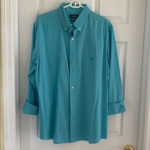 Men's Chaps Brand Button Down Shirt Aqua Blue